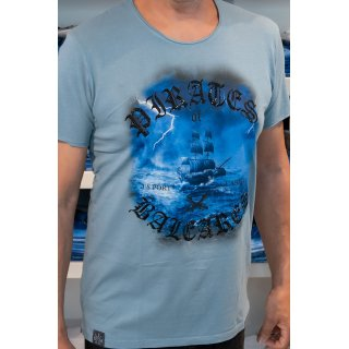 Jenny Delüx Herren T-Shirt Pirates of Baleares blau